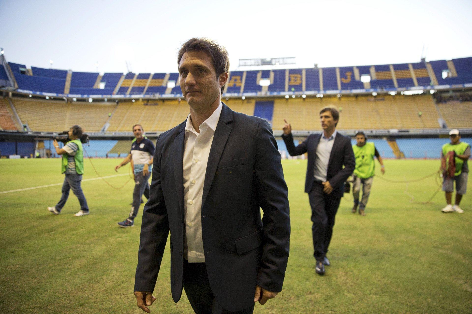 El nuevo DT de Boca debutó en un partido complicado por la Copa Libertadores