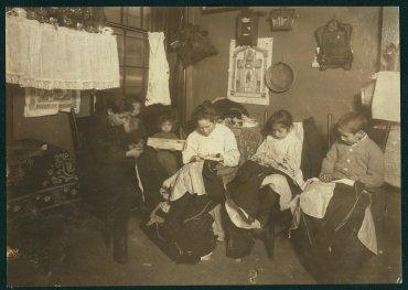 Costureras en acción, en Nueva York, enero de 1913