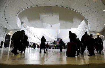 El emblemático edificio de la estación tiene un salón de forma ovalada, llamado Oculus, que mide 111 metros de largo
