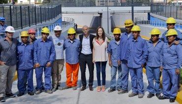 La gobernadora bonaerense, María Eugenia Vidal, inauguró esta mañana un paso vehicular bajo las vías del Ferrocarril Roca, en la localidad de City Bell, junto al ministro de Transporte nacional, Guillermo Dietrich