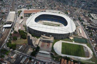 Vista aérea del Estadio Nilton Santos (Engenhao)