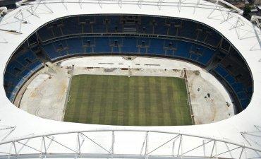 Vista cenital del Estadio Nilton Santos, un polideportivo localizado en el barrio de Engenho de la ciudad de Río de Janeiro