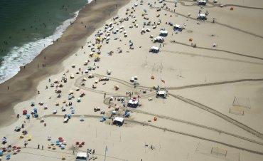 La playa deCopacabana, una de la más concurridas de Río de Janeiro