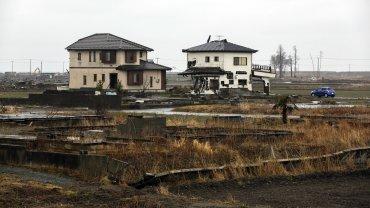 Vista general del distrito destruido de Ukedo, cerca de la central nuclear de Fukushima Daiichi en Namie, Japón