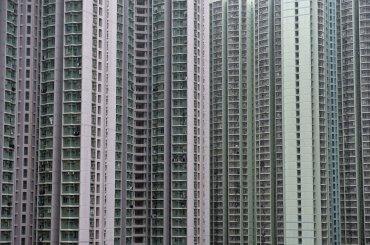 Unidades de apartamentos se agrupan muy pegados el uno a otro, el 8 de febrero, 2014