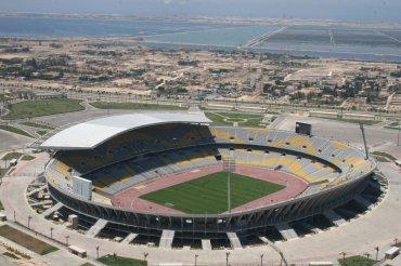 Borg El Arab (Egipto). Inaugurado en 2006, es el segundo mayor estadio de África tras el Soccer City. Con capacidad para 86.000 espectadores, se trata de un campo construido para presentar la candidatura al Mundial 2010