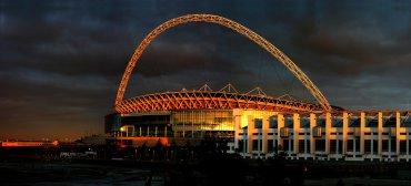 Estadio de Wembley (Londres, Inglaterra). Con capacidad para 90.000 espectadores, es uno de los más espectaculares de Europa y alberga los partidos de la selección inglesa