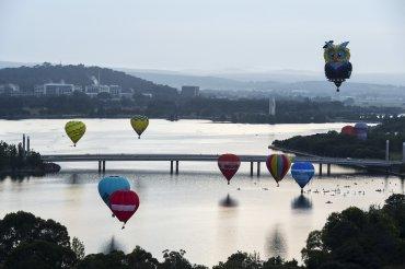 Se desarrolla elFestival del Globo Aerostático en Canberra, Australia