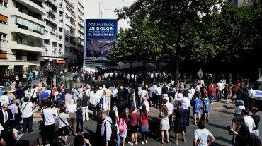 La conmemoración se realizó en la Plaza Embajada de Israel