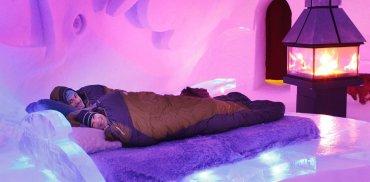 Hotel de Glace, Quebec, Canadá: No es apto para friolentos.La temperatura es de unos 4 grados bajo cero