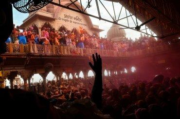El Festival de los colores se realiza en la primavera hindú
