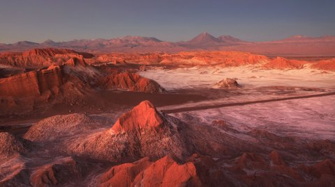 El Valle de la Luna en Chile.
