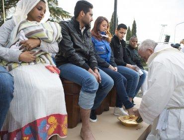 El refugio se encuentra al nortede Roma en el que viven personas que buscan asilo político.