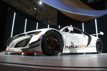 El Acura NSX GT3 es presentado a la prensa en Manhattan, Nueva York