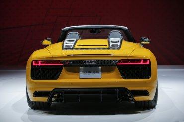 La parte trasera del Audi R8 Spyder 2017