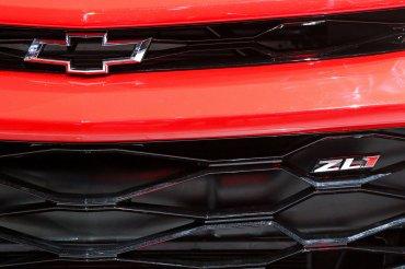 El frente delChevrolet Camaro ZL1 en detalle
