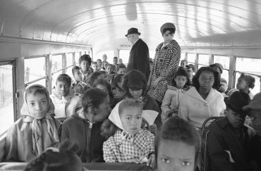Un autobús escolar en 1966