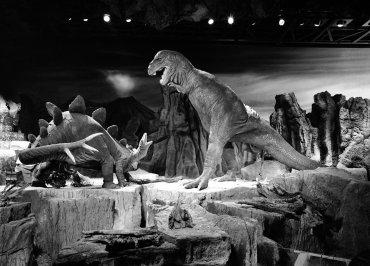 Los dinosaurios de Disneyland en Anaheim, California, el 7 de julio de 1966