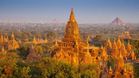 En esta zona se encuentran más de 2.200 templos en el Viejo Bagan.