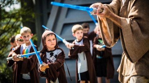Entrenamiento jedi, para los grandes fans de Star Wars.
