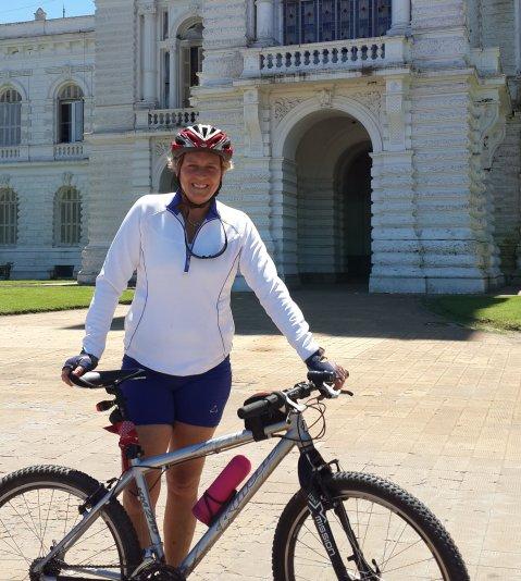 Luego de más de 25 años de carrera periodística, María del Valle conjugará el cicloturismo con la crónica.