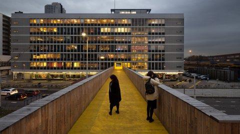 El Luchtsingel es un proyecto arquitectónico de parque elevado de la ciudad de Rotterdam.