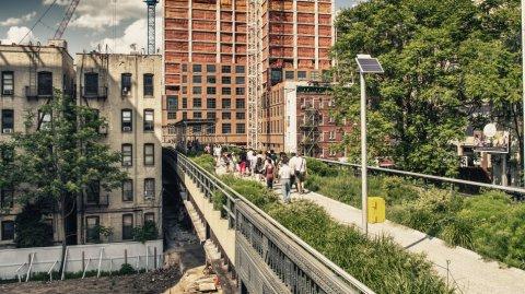 El High Line se convirtió en un parque público de 2,3 kilómetros de largo.