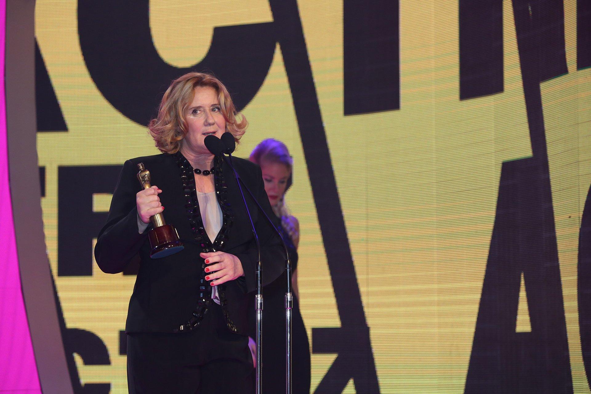 Verónica Llinás ganó el Martín Fierro 2016 en la categoría Mejor Actriz de Reparto.