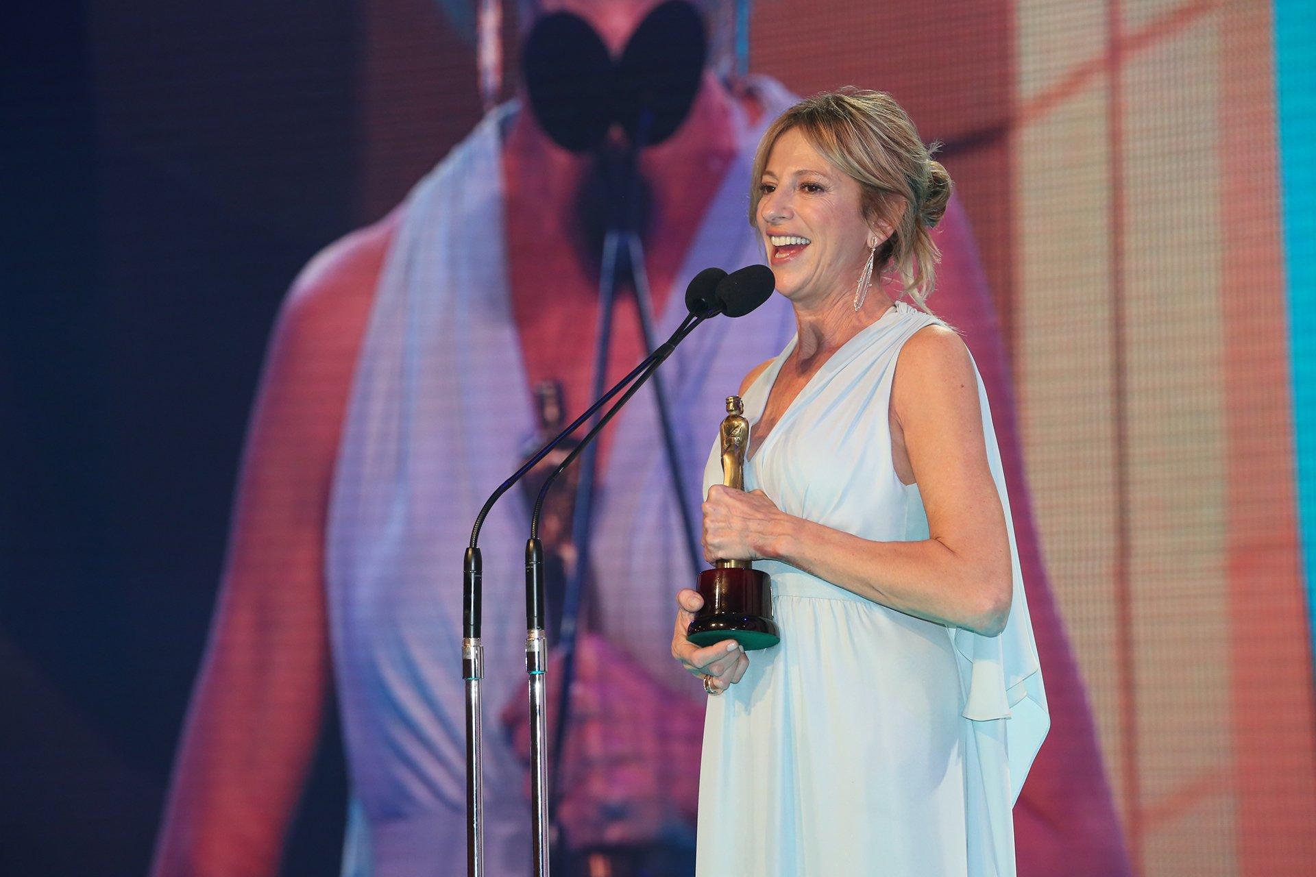 Claudia Fontán, la ganadora del Martín Fierro, en categoría protagonista femenina en unitario o miniseria