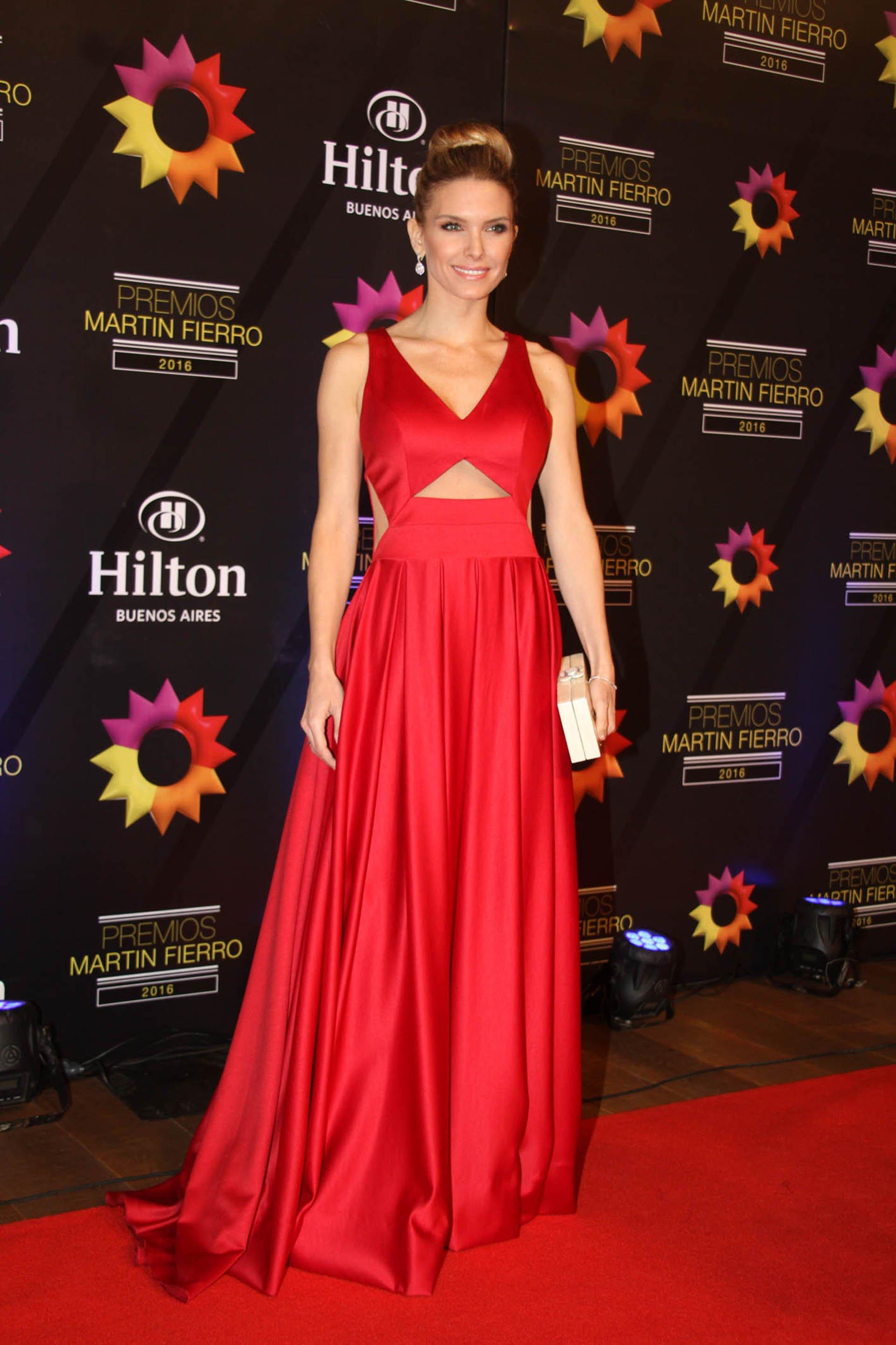 La modelo Sofía Zámolo, entre las que brillaron en la gran noche de la televisión argentina.