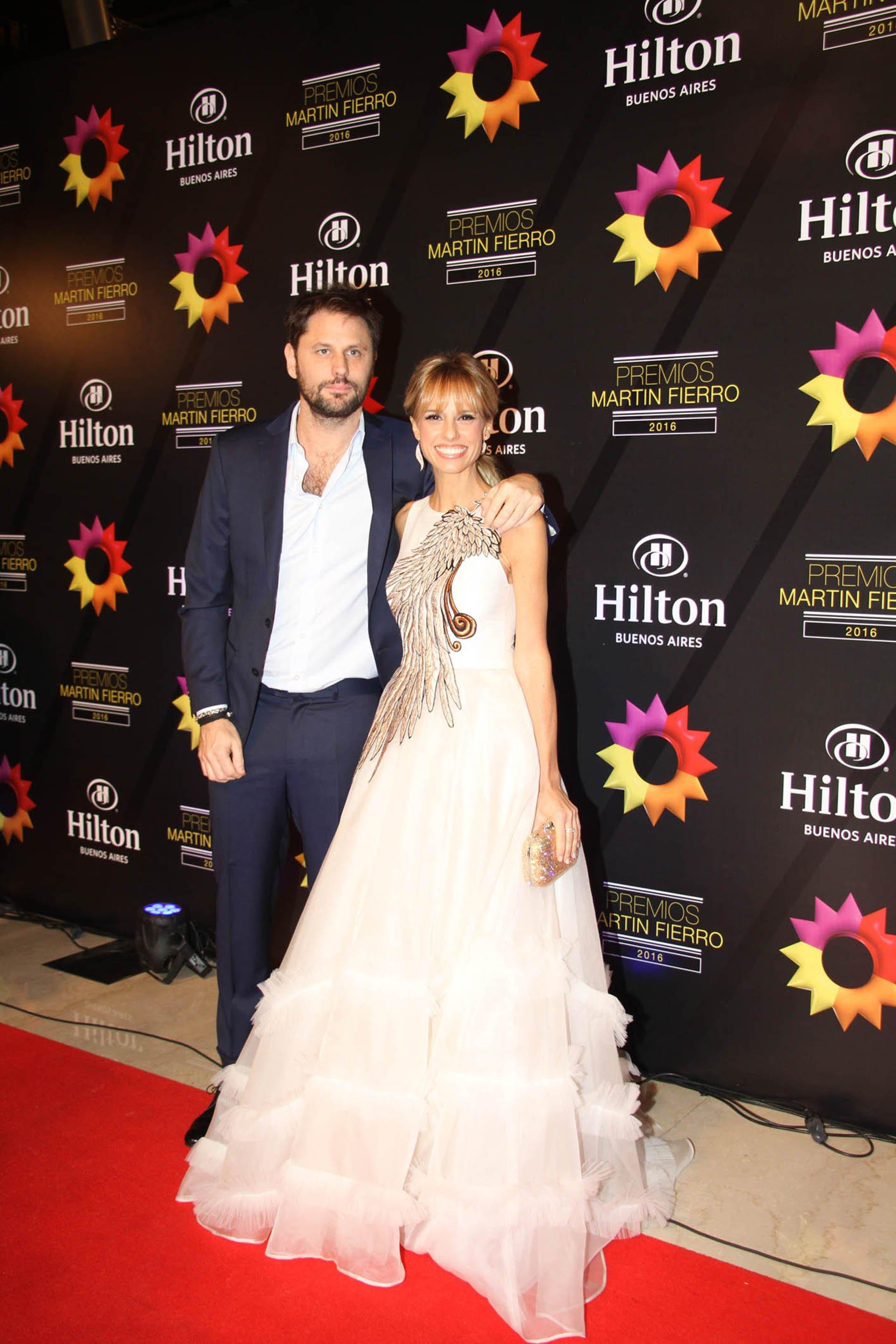 Mariana Fabiani junto a su marido Mariano Chihade, líder de Mandarina Producciones