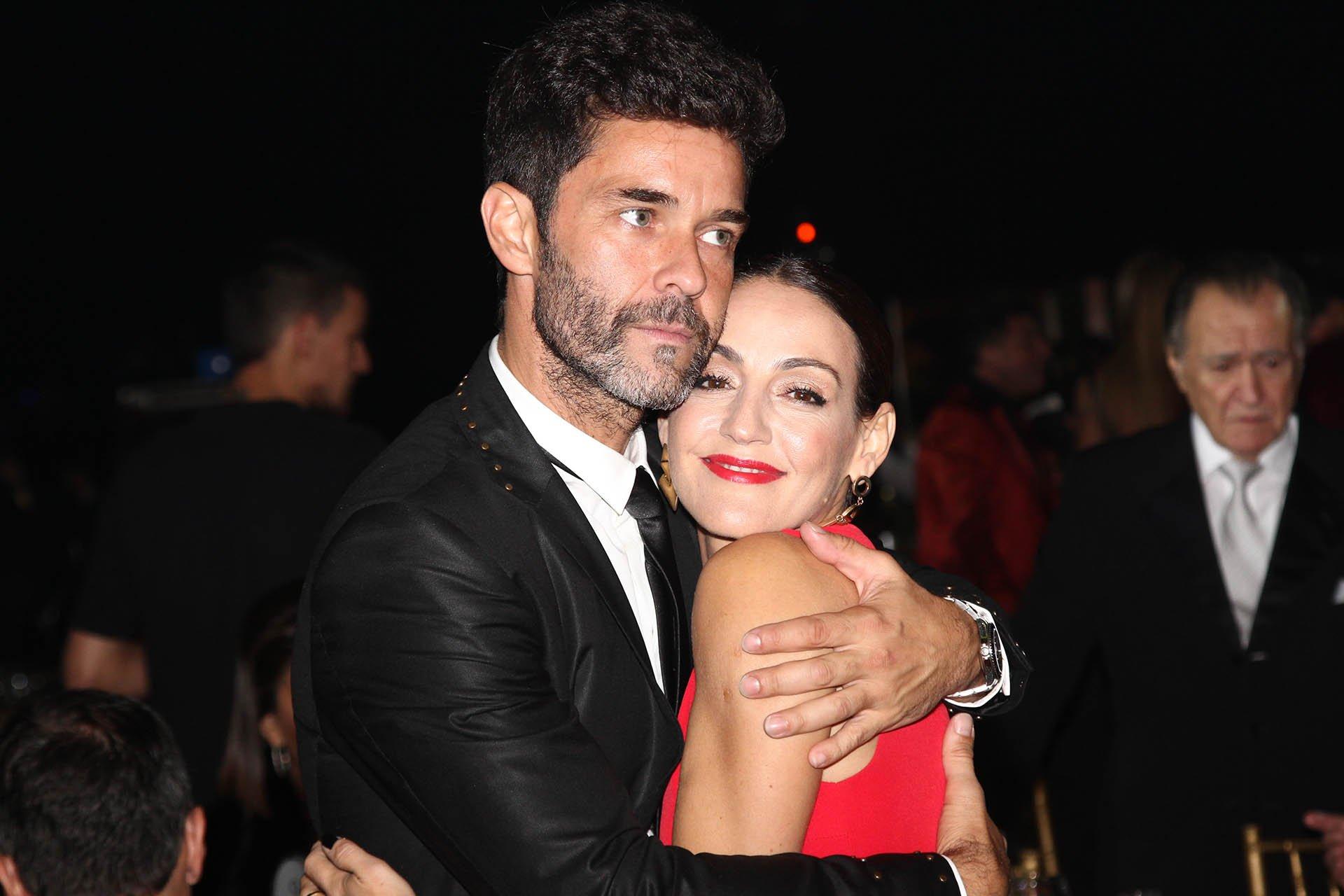El actor Mariano Martínez y la actriz Eleonora Wexler, dos amigos que estuvieron en la noche de los Martín Fierro.