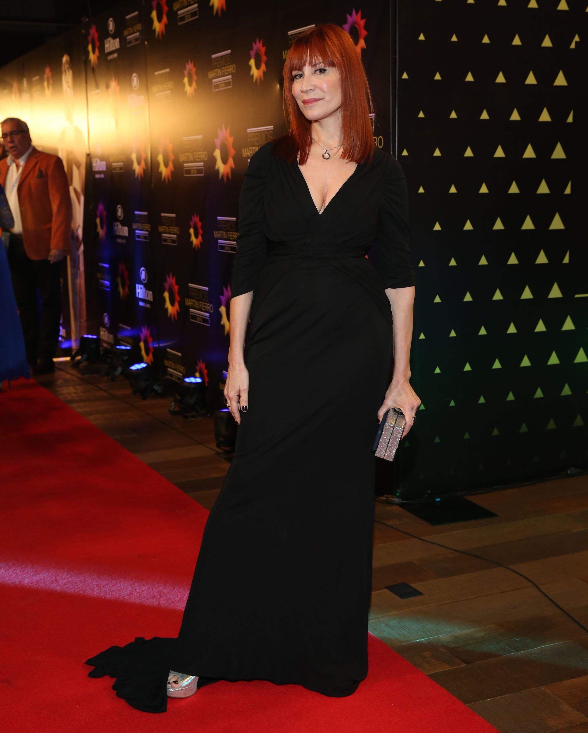 Matilda Blanco, la especialista en moda, también estuvo presente en la noche del Martín Fierro.