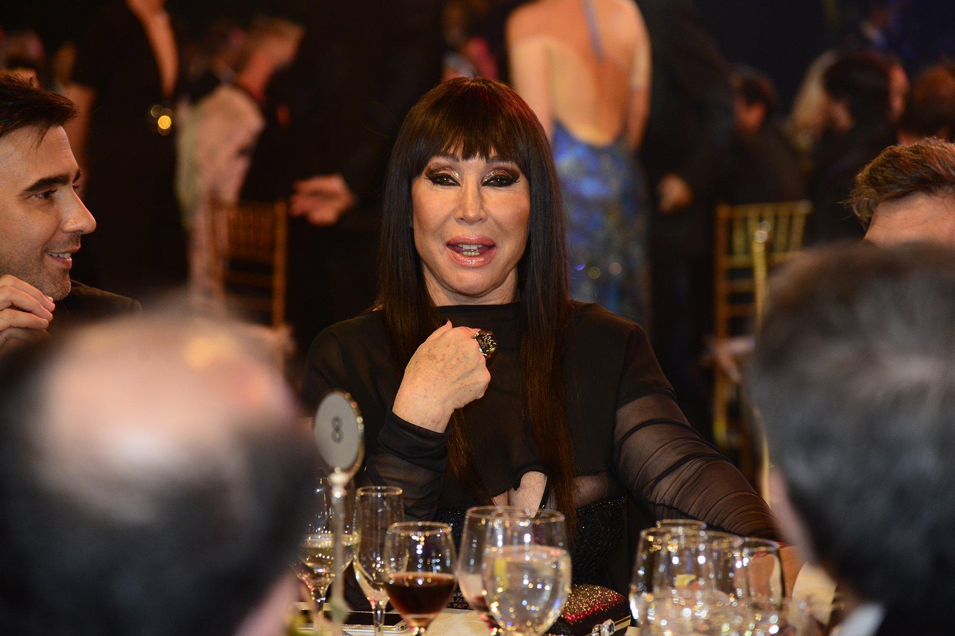 Moria Casan, artista y este año jurado en ShowMatch, subió al escenario cuando ganó el programa de Marcelo Tinelli